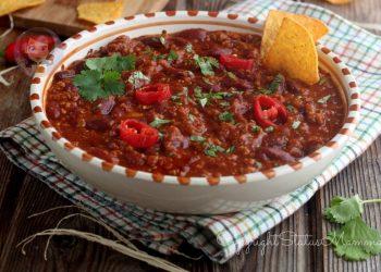 chili con carne macinata, fagiloli, riso, guacamole, come si mangia, bimby, salsa messicana, americana, ricetta, ricette con i legumi