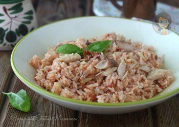 INSALATA DI RISO BASMATI CON SGOMBRO E POMODORINI SECCHI ricetta riso freddo insalata di riso pasta fredda senza cottura