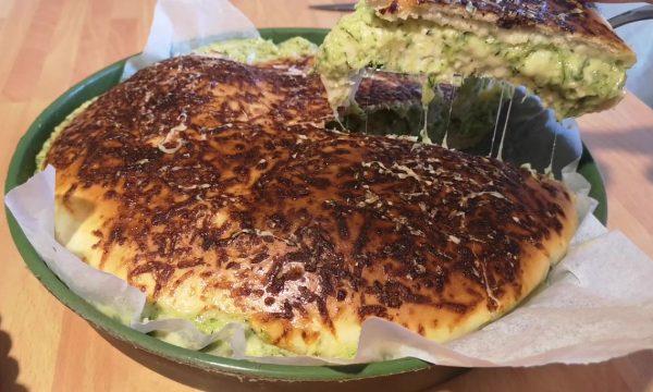 Brioches salata zucchine e formaggio