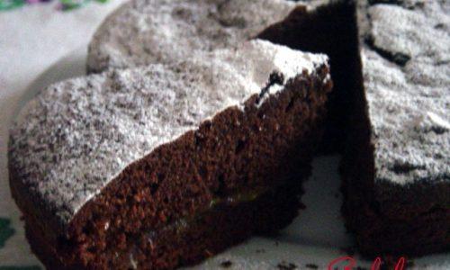 Torta  al cioccolato con marmellata di arance
