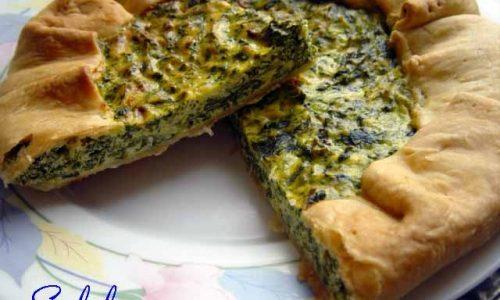 Quiche di spinaci ricotta menta e peperoncino