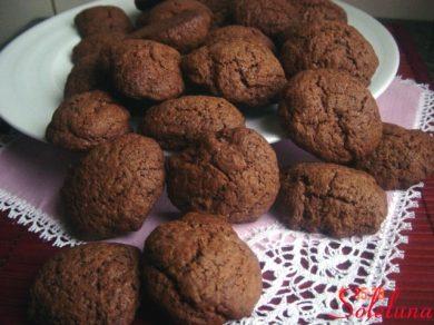 Biscotti al caffè con cacao