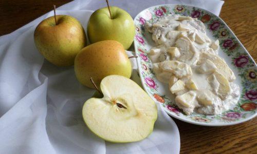 Lonza di maiale con mele e panna