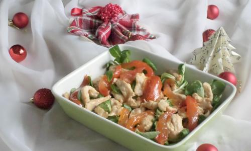 Insalata di tacchino con salsa di pomodoro – antipasto natalizio