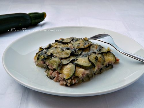 Pasticcio di zucchine e prosciutto cotto
