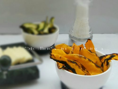 Chips di zucca al forno