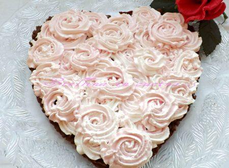 Cheesecake cuore di mamma con riso soffiato e crema al mascarpone