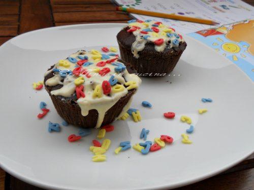 Tortine al cioccolato con cioccolato bianco