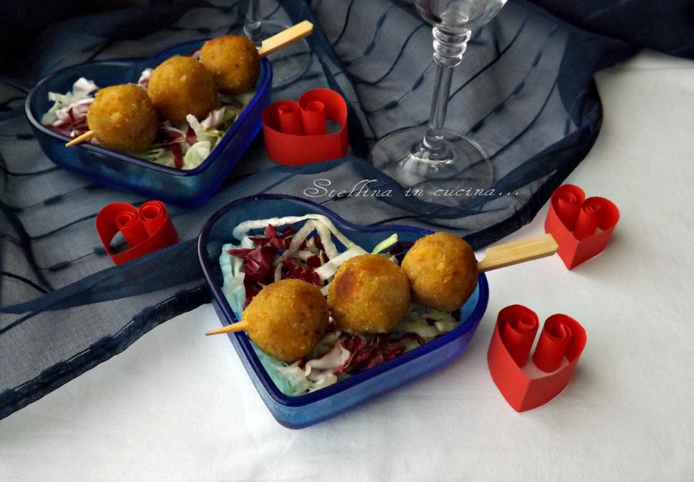 Polpettine di merluzzo e verdure bollite