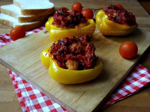 Vaschette di peperoni gratinati