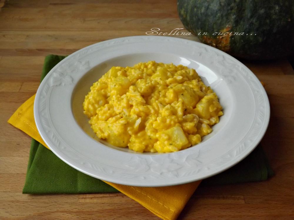 Risotto con crema di zucca e patate