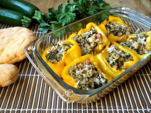 Peperoni ripieni di zucchine