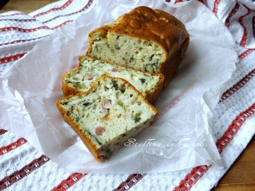 Plumcake agli spinaci e mortadella