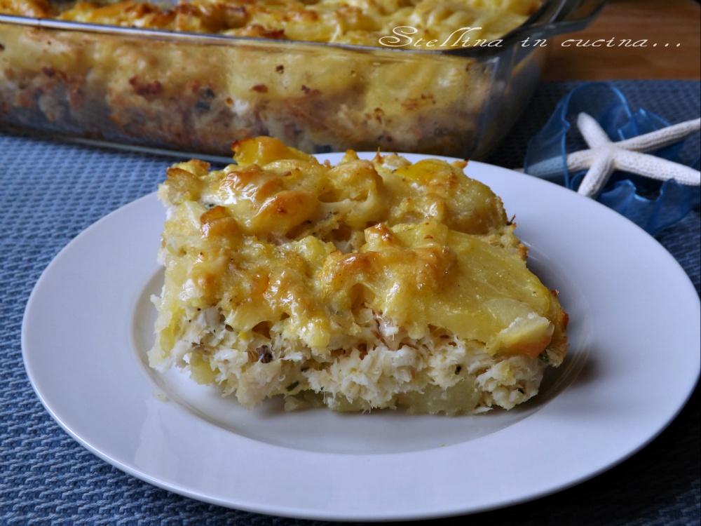 Amato Tortino di pesce e patate con formaggio, uno sformato ricco e saporito MA31
