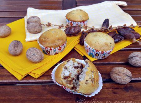 Muffin datteri e noci