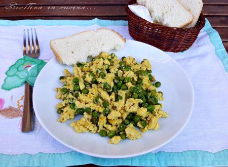 Uova strapazzate al curry con piselli