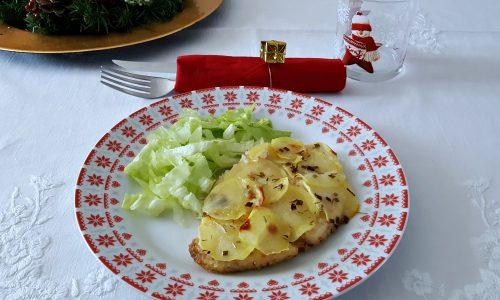 Pesce spada in crosta di patate