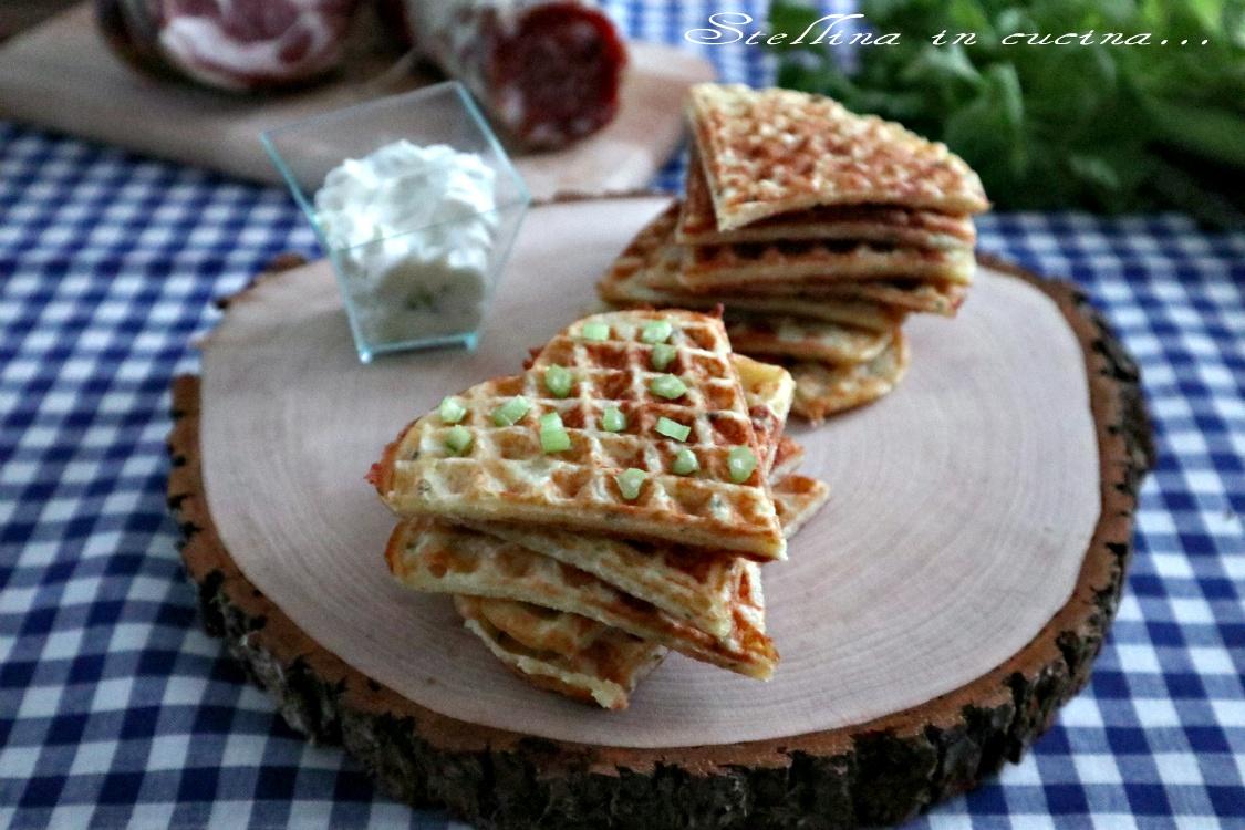 Waffle di patate