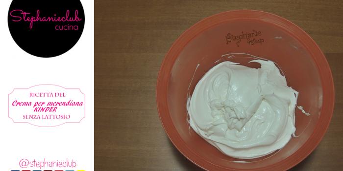 Crema al latte Homemade per Kinder Fetta al Latte – senza lattosio