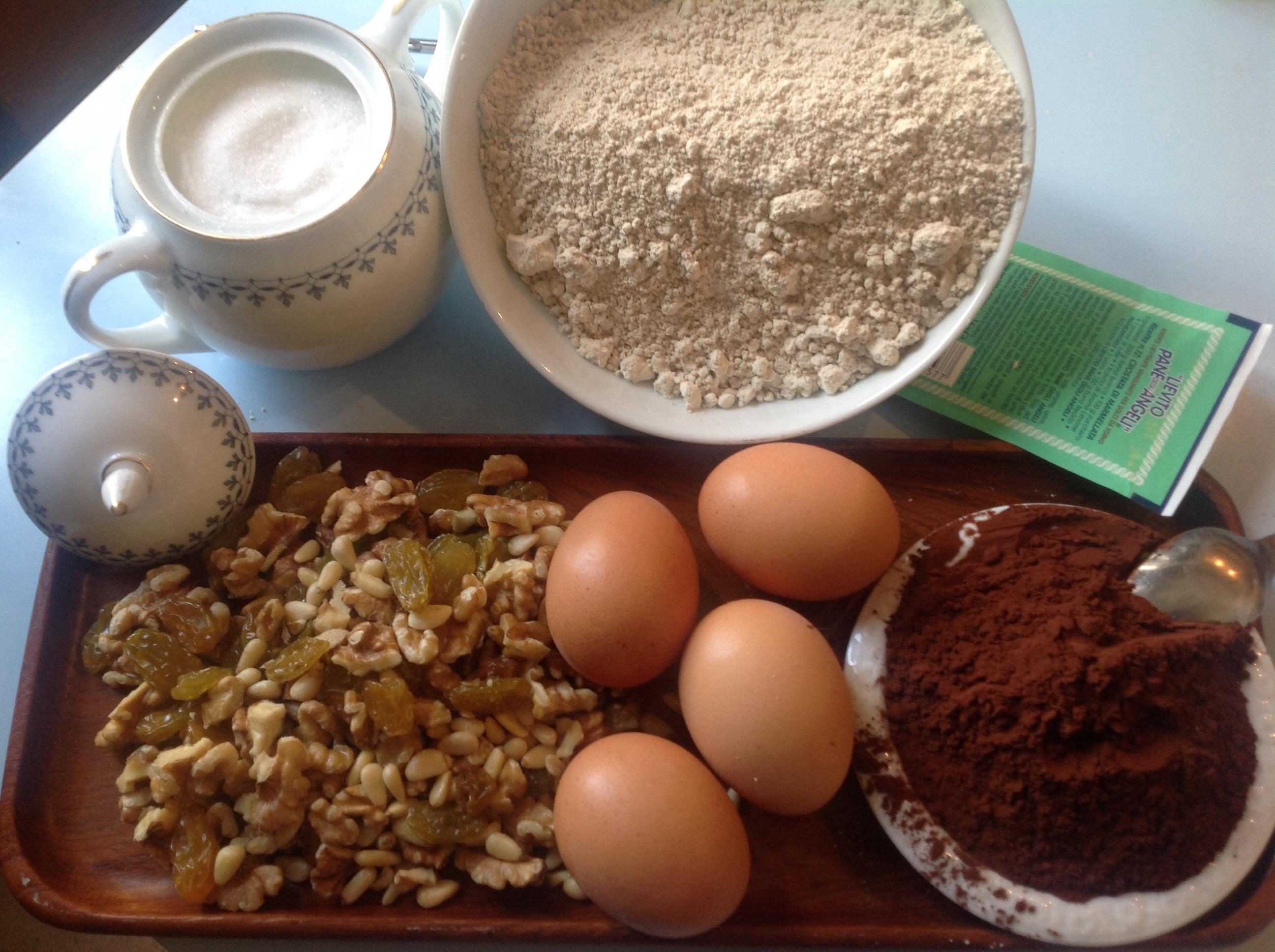 Ingredienti per la torta dello scoiattolo