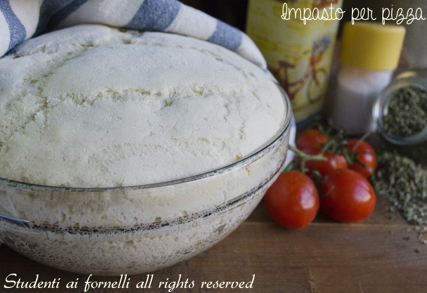 Ricetta Pasta X Pizza Fatta In Casa.Impasto Per Pizza Fatta In Casa Digeribile Con Poco Lievito