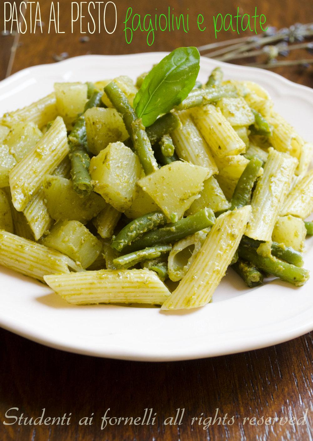 pasta al pesto con patate e fgiolini ricetta primo estivo