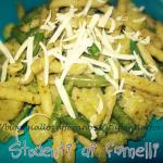pasta al pesto con patate e fagiolini