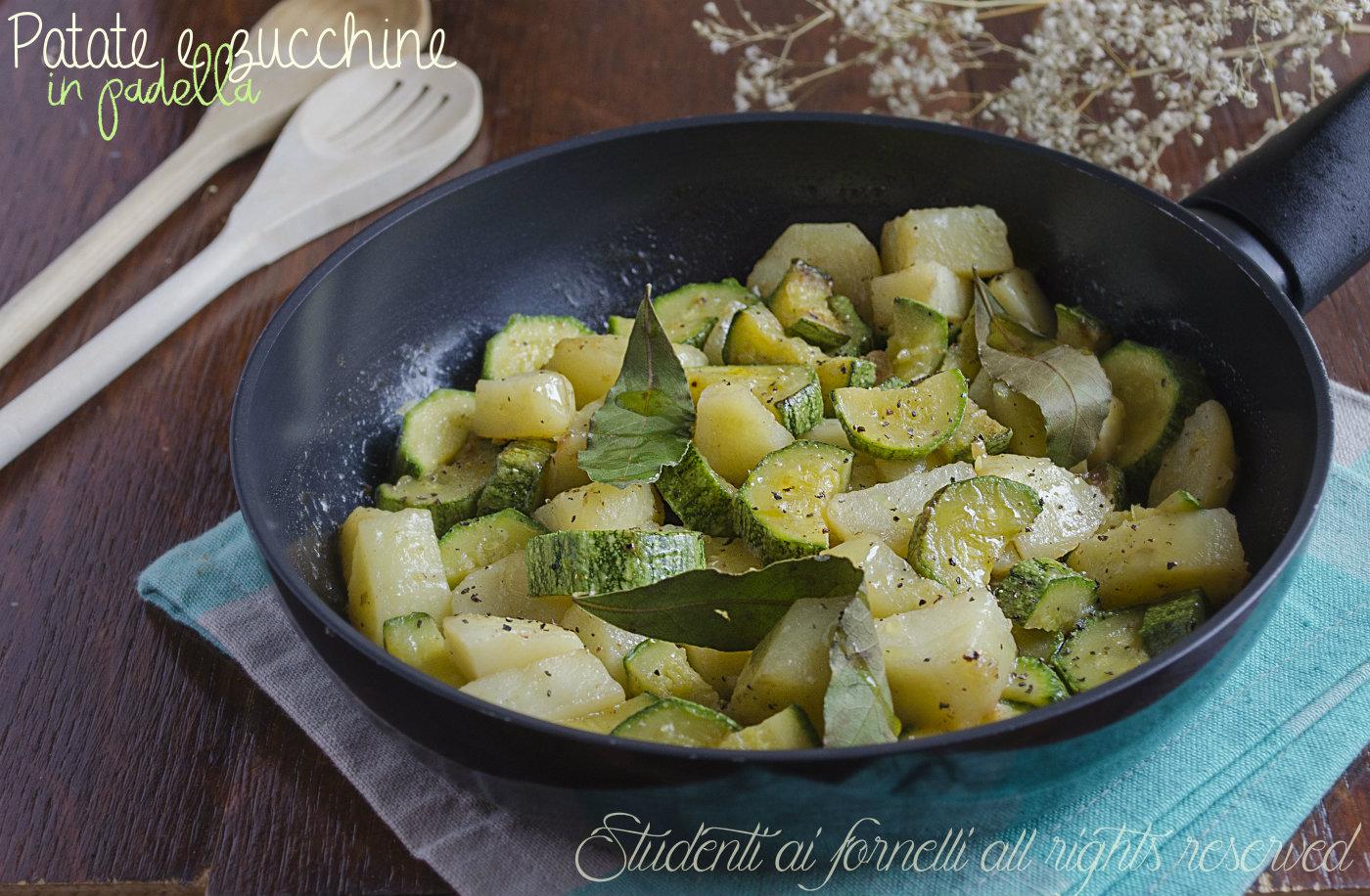 patate e zucchine saporite in padella, ricetta - Come Cucinare I Porri In Padella