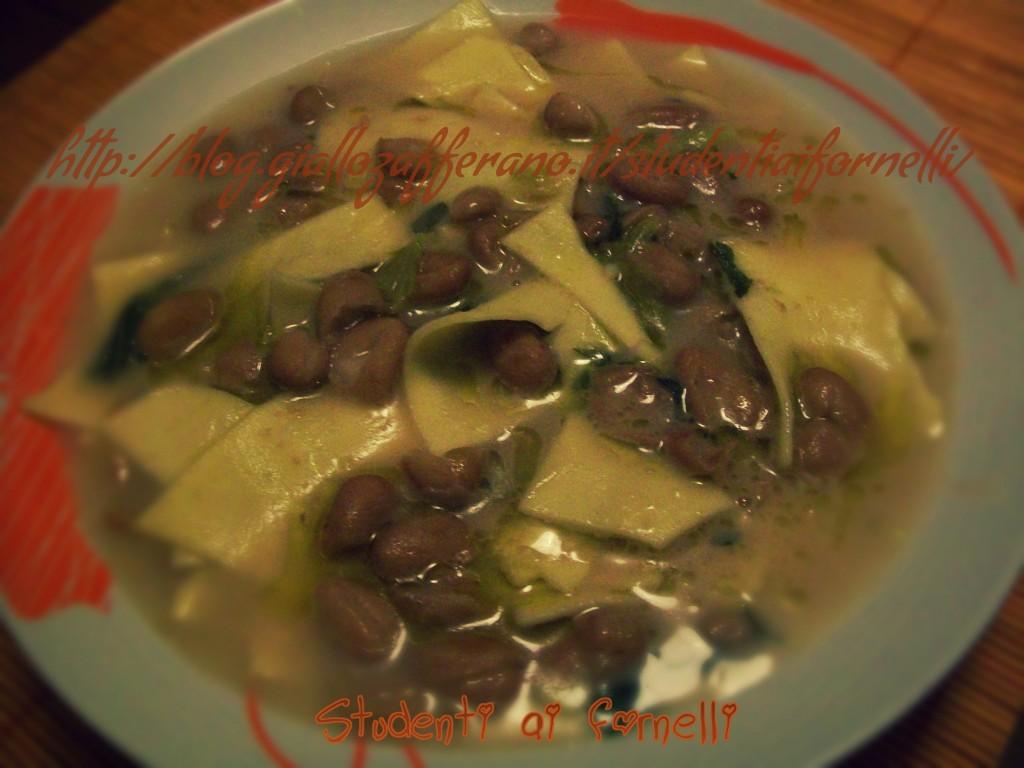 zuppa di fagioli con lasagne