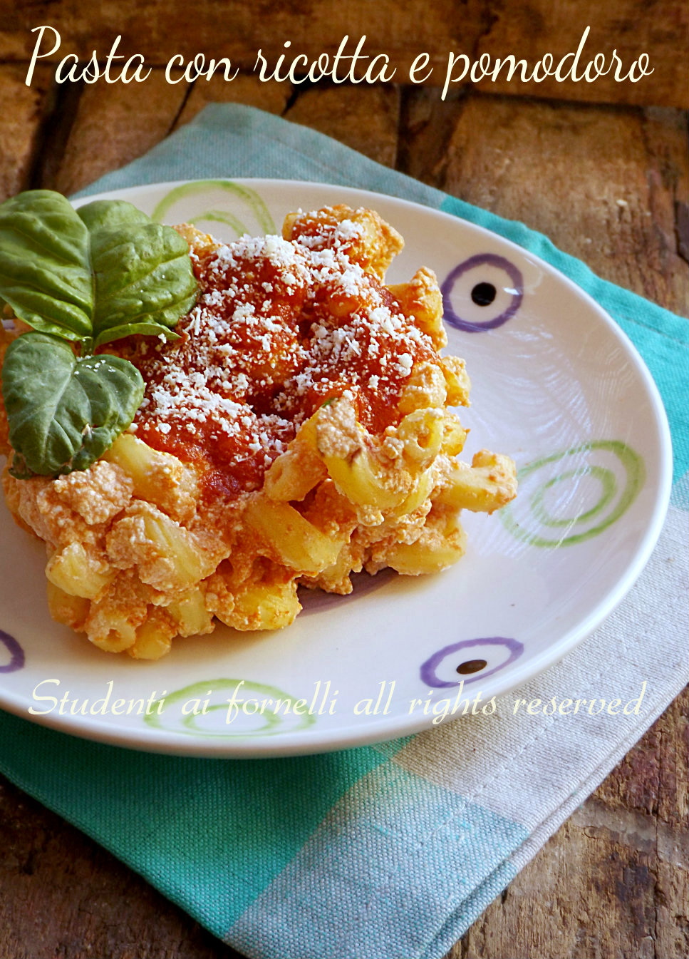pasta con ricotta e pomodoro ricetta primo gustoso e veloce