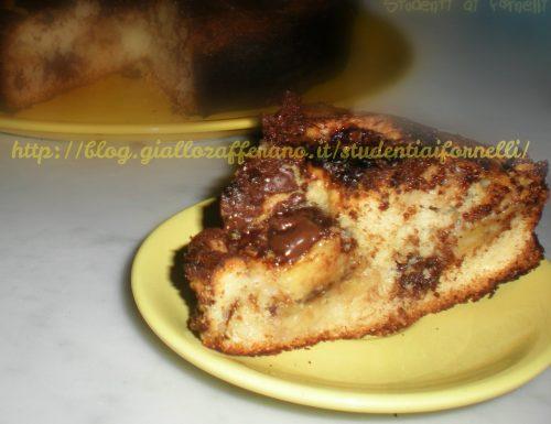 Torta morbida con banane e cioccolato   Ricetta golosa