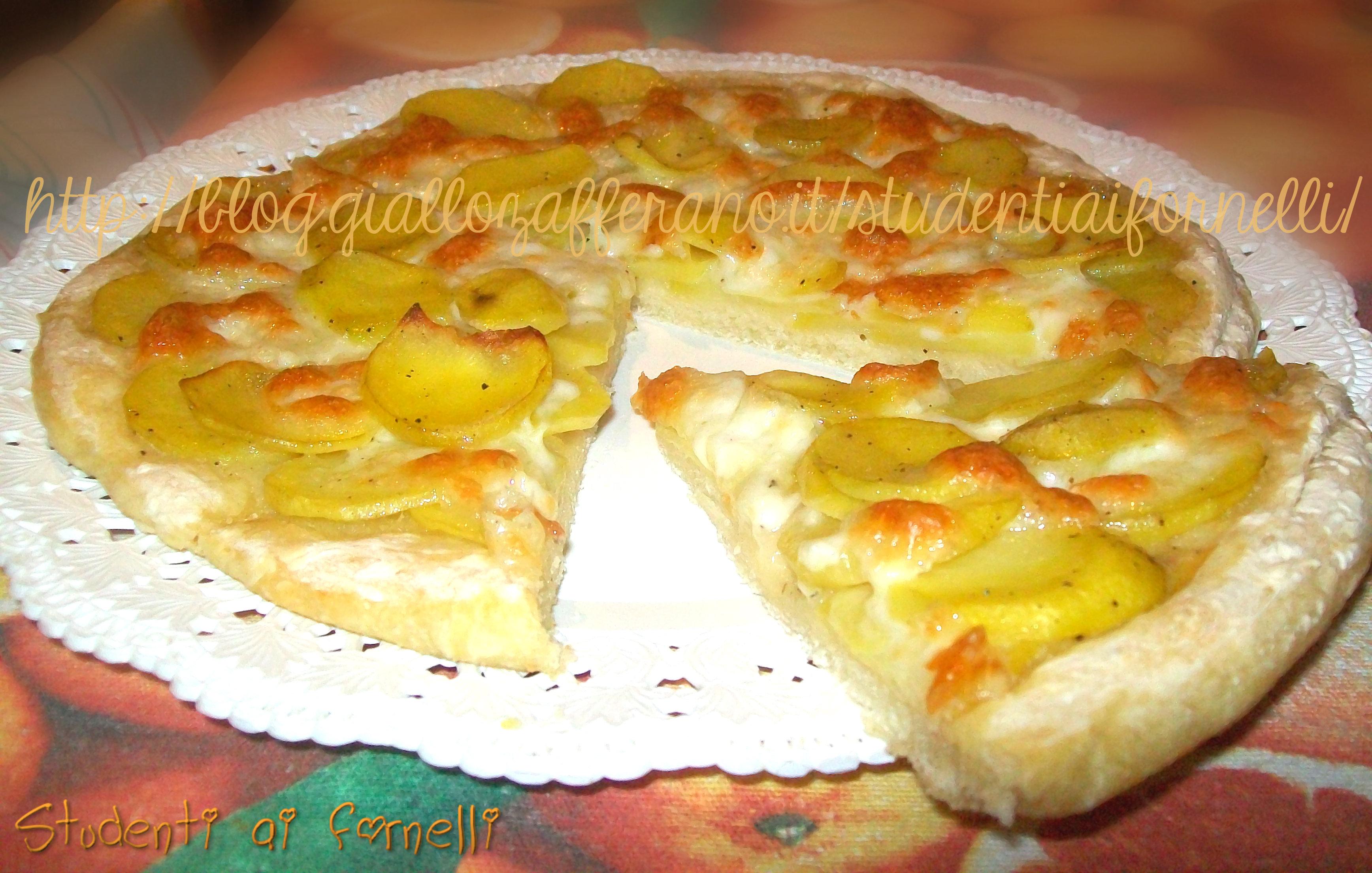 Pizza con le patate | Ricetta focaccia soffice | Studenti ai fornelli