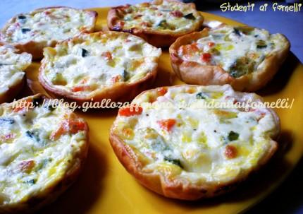 mini quiche di zucchine ricetta finger food