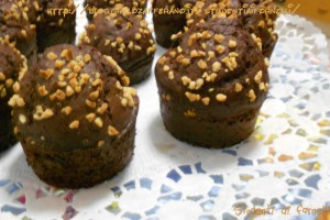 Muffin al cioccolato e mandorle | Ricetta dolce