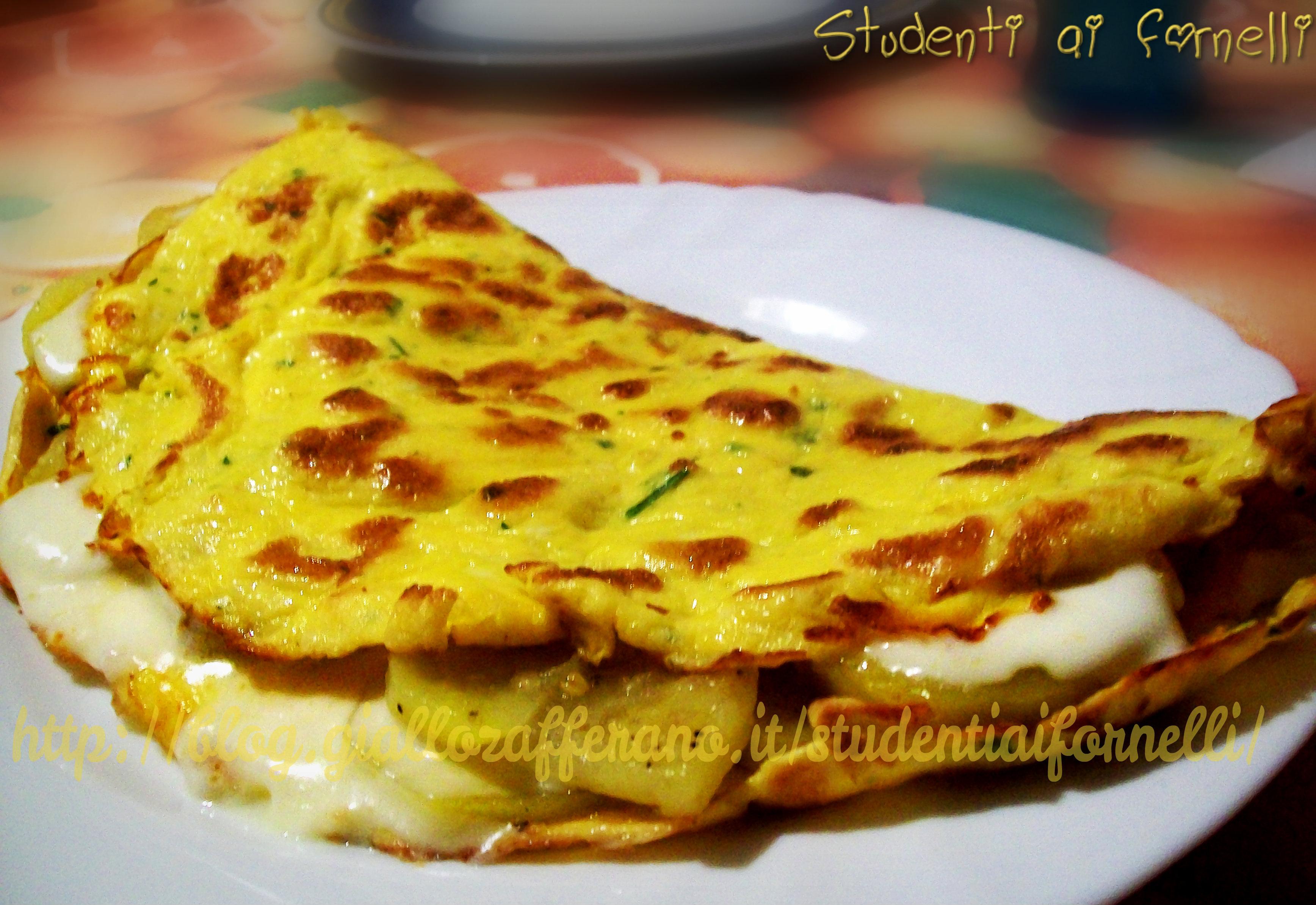 omelette con patate e stracchino ricetta sfiziosa
