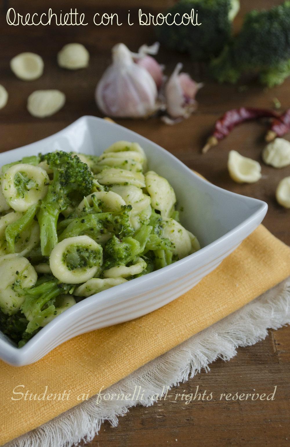 orecchiette con broccoli ricetta primo gustoso facile