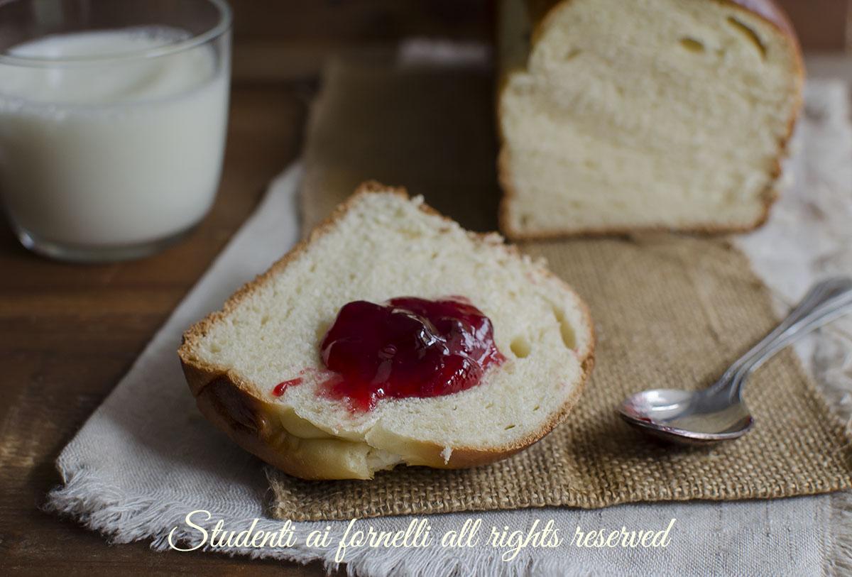 pan brioche fatto in casa facile veloce ricetta colazione merenda