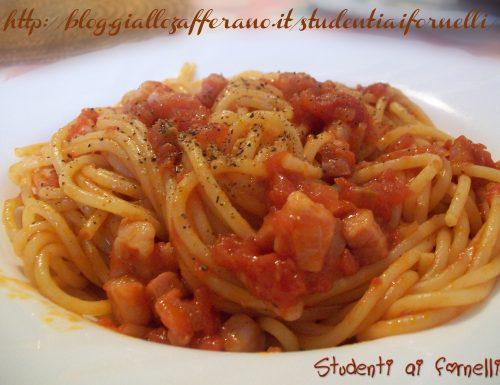 Spaghetti all'amatriciana | Ricetta gustosa
