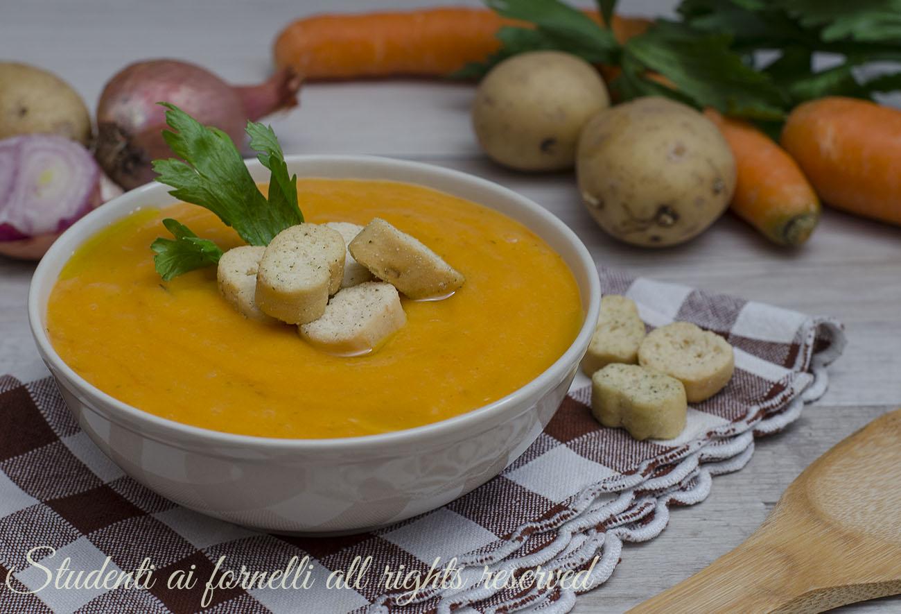 Diete Veloci E Facili : Vellutata di patate e carote ricetta facile e veloce