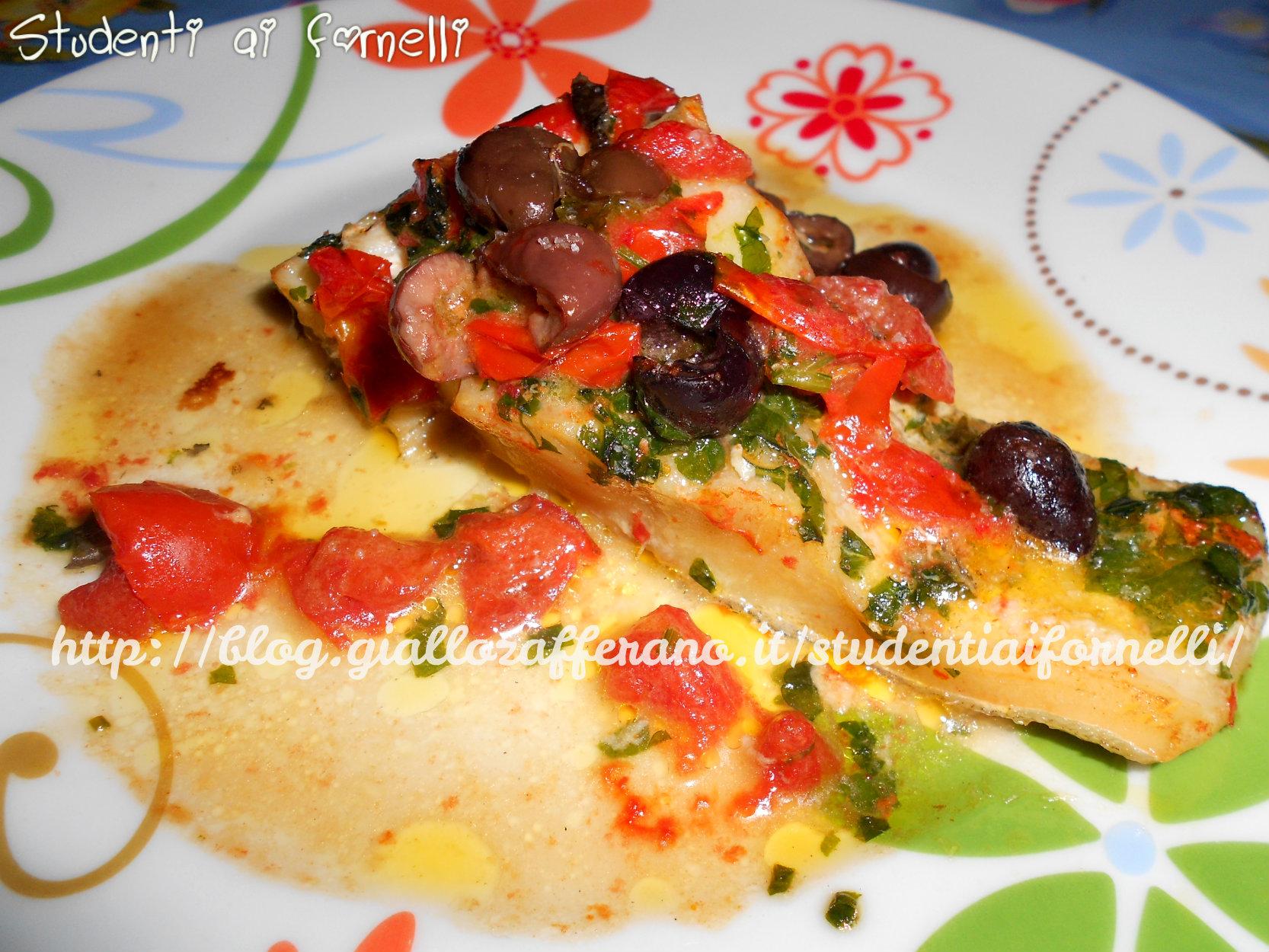 baccalà con pomodorini e olive | ricetta saporita | secondi di pesce - Come Si Cucina Il Baccala