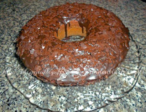 Ciambella al cacao con glassa al cioccolato | Ricetta soffice