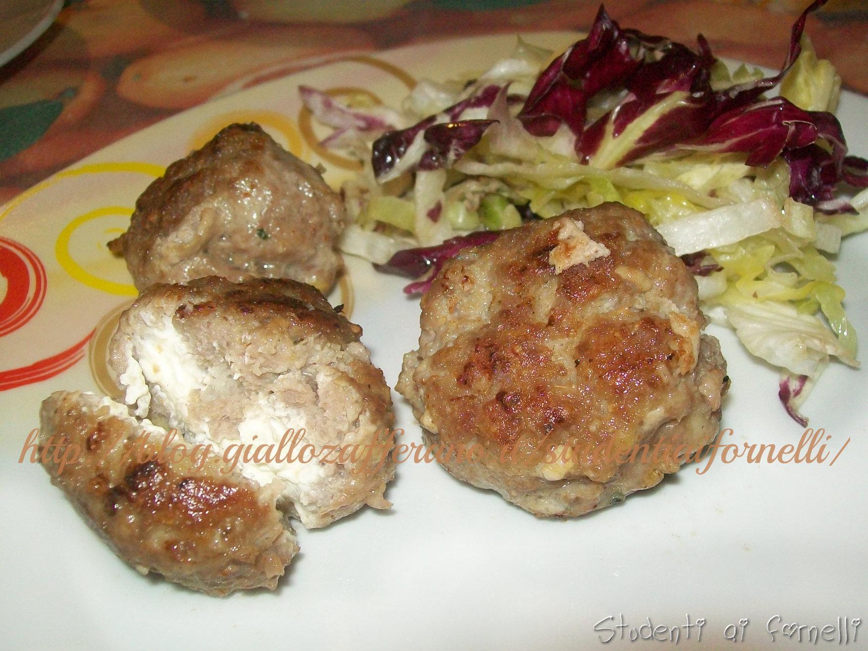 polpette di carne con ripieno cremoso