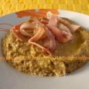 crema di lenticchie con bacon croccante