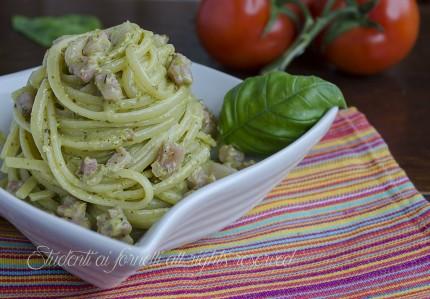 linguine al pesto e pancetta primo veloce gustoso ricetta pasta