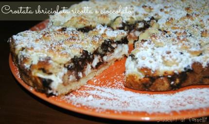 crostata sbriciolata ricotta e cioccolato fondente ricetta dolce