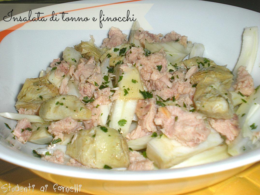 insalata di tonno e finocchi ricetta contorno estivo