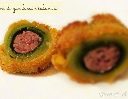 Rotolini di zucchine e salsiccia al forno