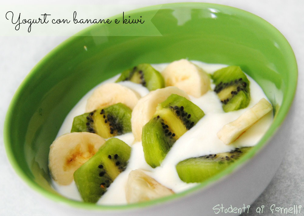 yogurt con banane e kiwi ricetta sfiziosa