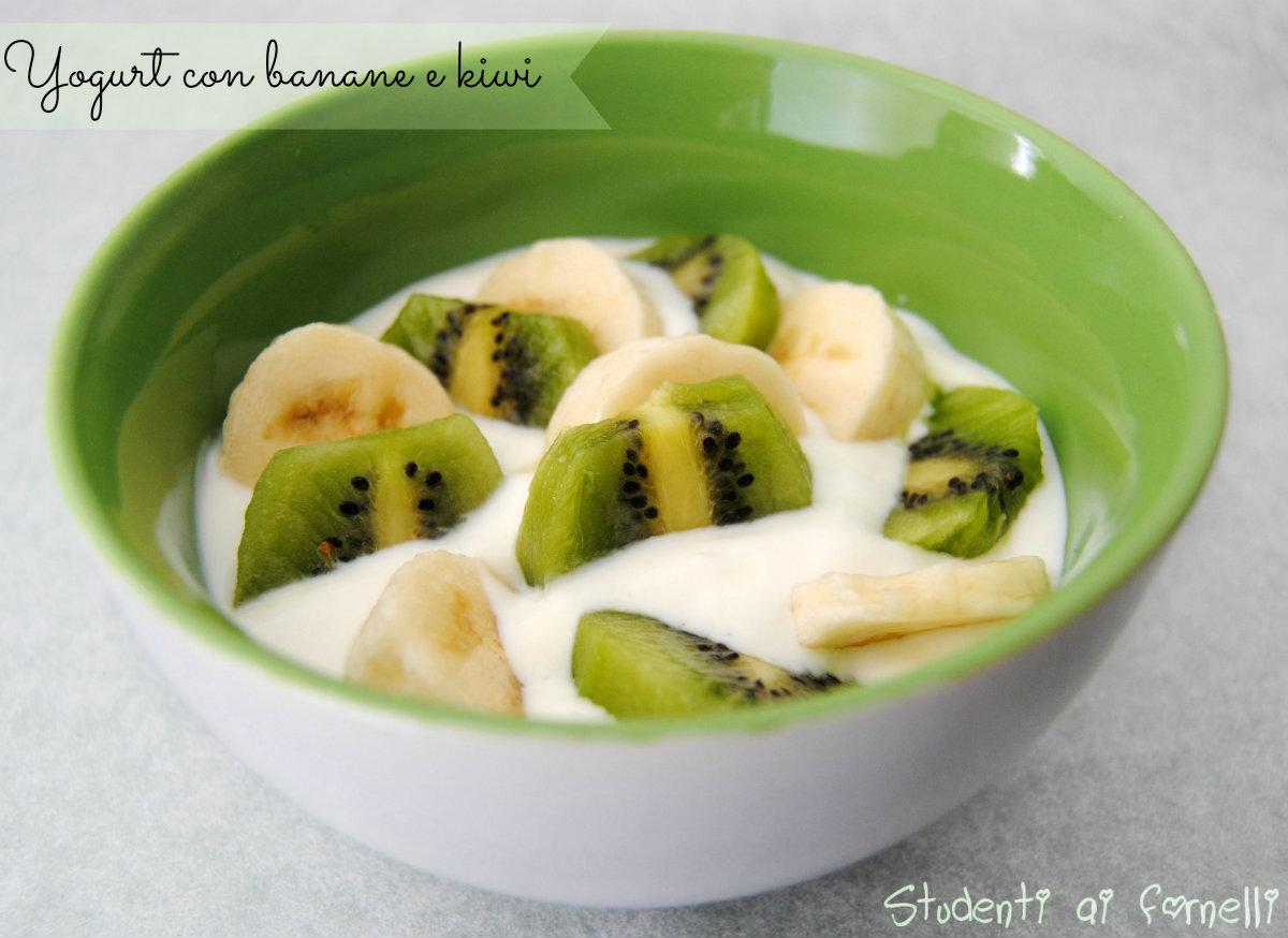 yogurt con banane e kiwi ricetta