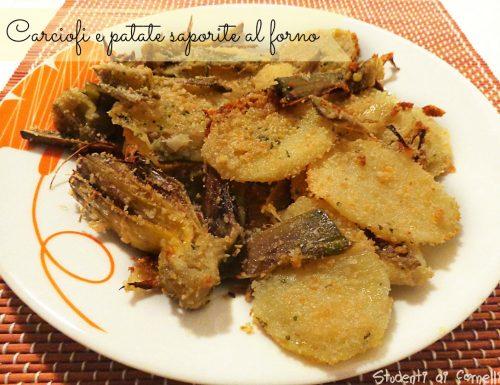 Carciofi e patate saporite al forno